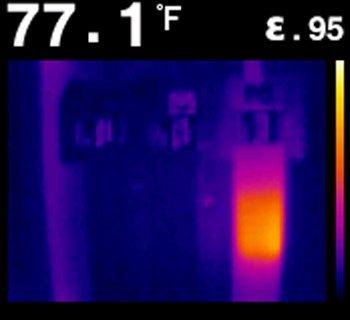 immagine del display di una termocamera