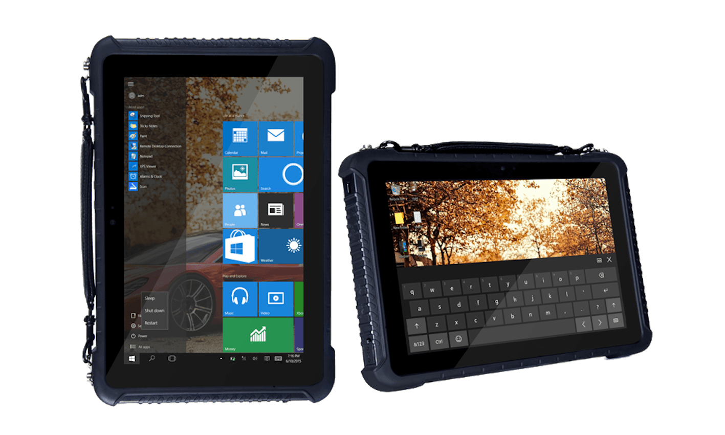 foto del tablet rugged quuequeg QT100